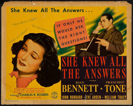 She Knew All the Answers She Knew All the Answers 1941