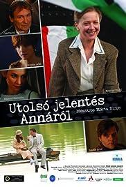 Utolsó jelentés Annáról Poster
