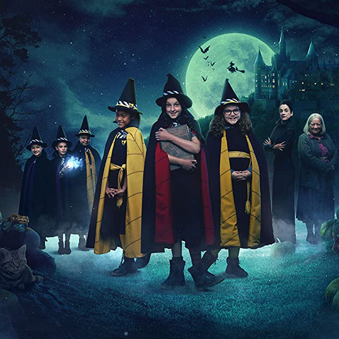Raquel Cassidy, Wendy Craig, Clare Higgins, Tallulah Milligan, Meibh Campbell, Bella Ramsey, Tamara Smart, Jenny Richardson, and Dagny Rollins in The Worst Witch (2017)