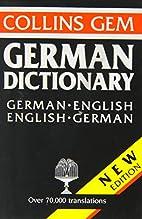 German-English, English-German Dictionary…