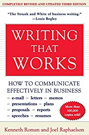 Writing That Works; How to Communicate…