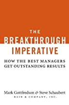 The Breakthrough Imperative: How the Best…