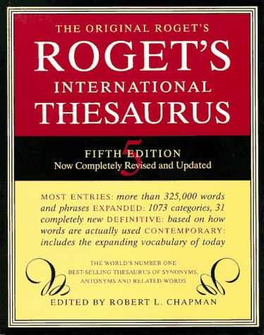Roget International Thesaurus, Chapman, Robert L.