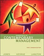 Essentials of Contemporary Management by…