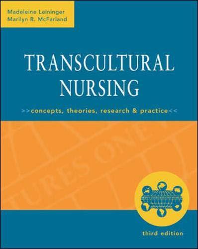 Essay about transcultural nursing