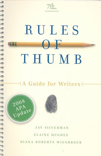 Image for Rules of Thumb, APA Update Edition