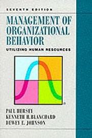 Management of Organizational Behavior:…