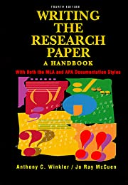 Writing the Research Paper: A Handbook With…