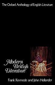 Modern British Literature de Frank Kermode