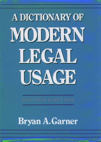 legal writing and legal language dictionary