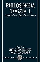 Philosophia Togata I: Essays on Philosophy…