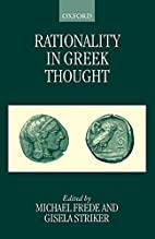Rationality in Greek Thought by Michael…