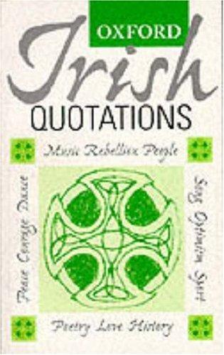 Oxford Irish Quotations