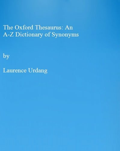 Thesaurus pdf oxford dictionary