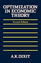 Optimization in Economic Theory by Avinash…