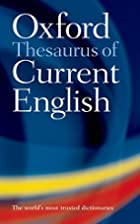 Oxford Thesaurus of Current English by…