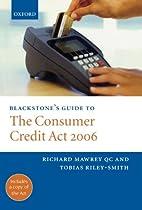 Blackstone's Guide to the Consumer…