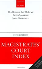 Magistrates' Court Index by Ian McLean