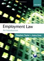 Employment Law: An Introduction by Stephen…