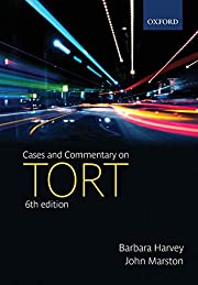 Cases and Commentary on Tort by Barbara…