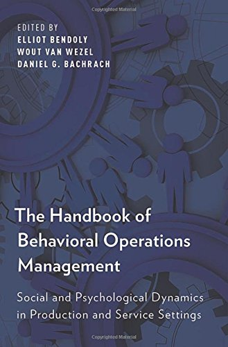 PDF] The Handbook of Behavioral Operations Management: Social and