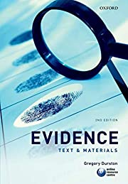 Evidence: Text & Materials by Gregory…