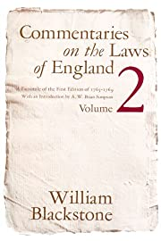 Commentaries on the Laws of England Vol.2 by…