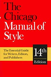 The Chicago manual of style (14th ed.)