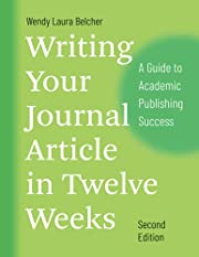 Writing your journal article in twelve weeks…