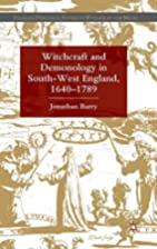 Witchcraft and Demonology in South-West…