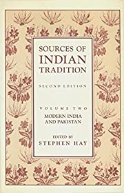 Sources of Indian Tradition: Modern India…