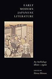Early modern Japanese literature : an…