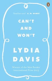 Can't and Won't av Lydia Davis
