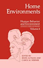 Home Environments (Human Behavior and…