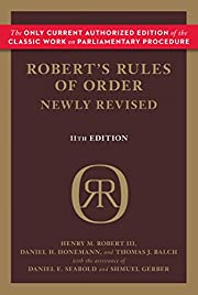 Robert's Rules of Order Newly Revised af…