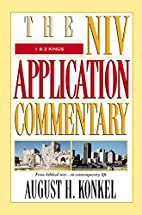 The NIV Application Commentary 1 & 2 Kings…