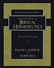 Introduction to Biblical Hermeneutics?second…