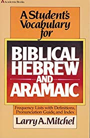 Student's Vocabulary for Biblical Hebrew and…
