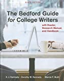 Bedford guide for college writers 9th ed 4-in-1 + writing plus