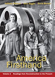 America Firsthand, Volume Two: Readings from…
