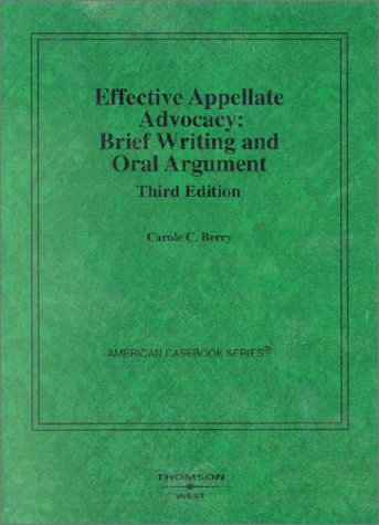 legal writing appellate brief