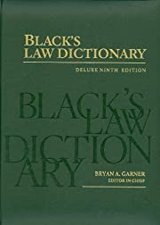 Black's Law Dictionary: Deluxe Ninth…