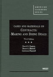 Cases and Materials on Contracts: Making and…