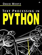Text Processing in Python by David Mertz