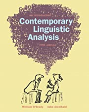 Contemporary Linguistics Analysis by William…