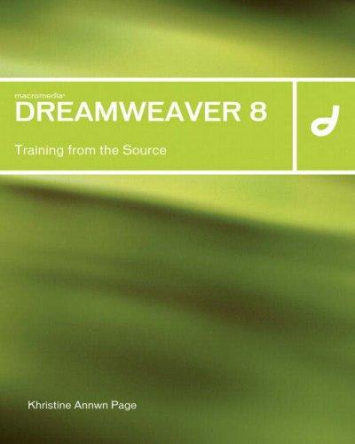 Pdf Macromedia Dreamweaver 8 Training From The Source