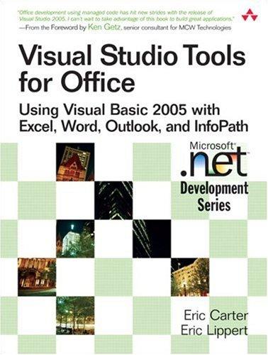 PDF] Visual Studio Tools for Office: Using Visual Basic 2005