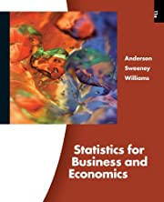 Statistics for Business and Economics (with…