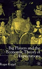 Big Players and the Economic Theory of…