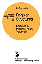 Lectures in Pattern Theory: Volume 3:…